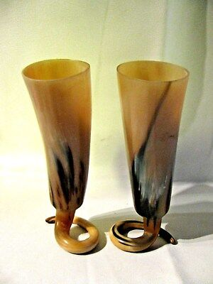 Vtg  Hand Craft Drinking  Goblet's  As Cup Standing