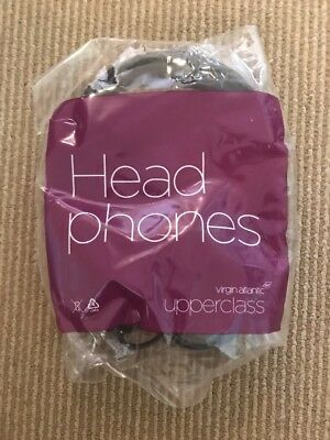 Virgin Atlantic Airlines New Upper Class Headphones Sealed In Bag Collectible