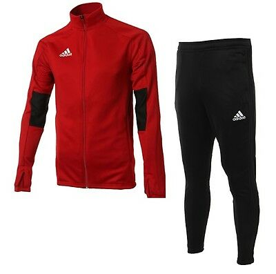 Adidas Youth Condivo 18 Training Suit Set Red Kid Shirts Pants ED5917-CF3685