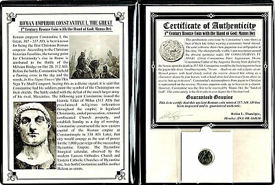 Roman Constantine I Hand of God Coin with Album and Certificate,