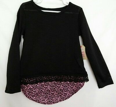 Girls Faded Glory Long Sleeve Sweater Shirt Size XS (4-5) Pink Accent        146
