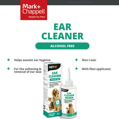 VetIQ Ear Cleaner Alcohol Free softening & removal of Dog Cat ear wax Non-Toxic