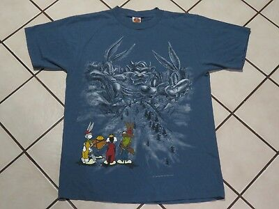 Vintage 1995 Looney Tunes Mt Rushmore Shirt Size Large Men Rare 90s Bugs Bunny