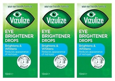 Vizulize Eye Brightener Drops 10ml, Long Lasting Effects, Brightens & Whitens