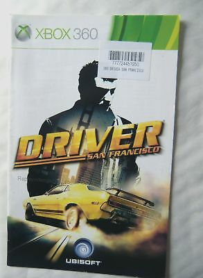 56368 Instruction Booklet - Driver San Francisco - Microsoft Xbox 360 (2008)