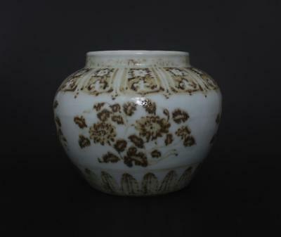 Perfect Antique Chinese Porcelain Famille-Rose Jar Pot-Chrysanthemum