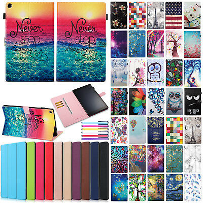 For Amazon Fire HD 10 2017 Smart Flip Leather Protective Skin Stand Case Cover