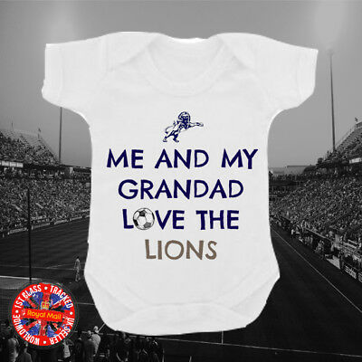 Millwall Inspired Me and my Grandad Football Babygrow, Gift, Kids, Family