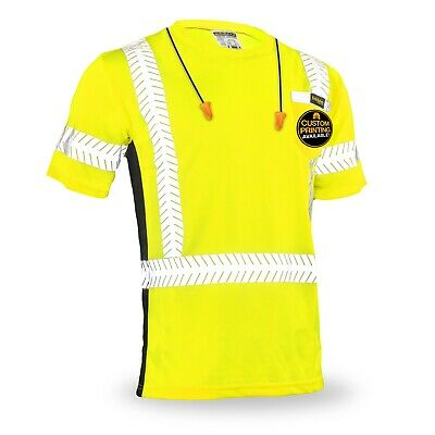 KwikSafety DISCOVERY Hi Vis Reflective ANSI Class 2 Short Sleeve Safety Shirt