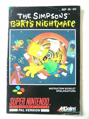 53832 Instruction Booklet - The Simpsons Bart's Nightmare - Nintendo SNES (
