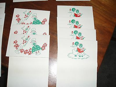 Vintage Christmas Notes Stationery Christmas Scenes and African American Angels
