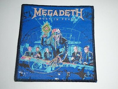 Megadeth Rust And Peace Woven Patch