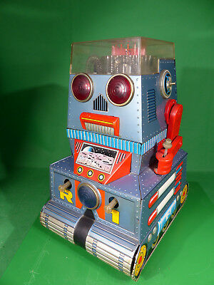 T.N. Nomura Japan - Space Toy Robot R-1 - 1960's tintoy - Blechspielzeug