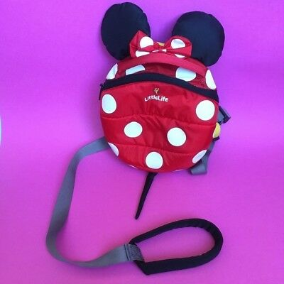 Toddler Reins Backpack Rucksack Little Life Disney Minnie Mouse Ears
