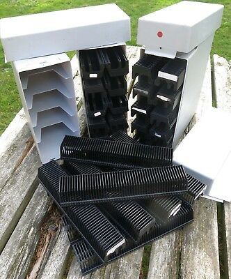 Slide projector cassette tray 30 X 50 slides FOR LEICA & KINDERMANN, with Cases