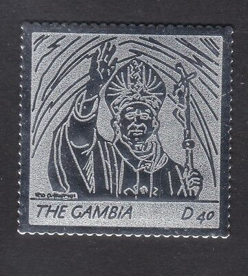 Gambia 2005 Death of Pope John Paul 40d - Silver Foil - MNH (A9E)