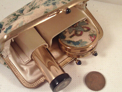 "ORIGINAL 1930's-vintage (Dorset 5th Ave) ""Fabric PURSE ~ COMPACT""!"