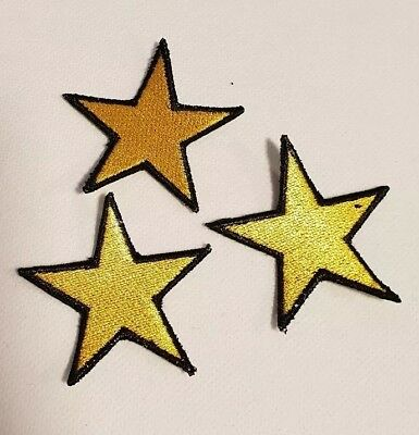 3 Sterne gelb  Rockabilly Tattoo Aufnäher Punk Patch Nautic Star old school