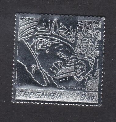 Gambia 2005 Death of Pope John Paul 40d - Silver Foil - MNH (A10B)