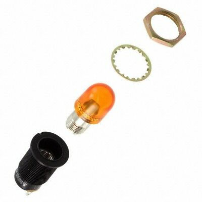 Dialight 137-8836-0933-552 Neon Amber Indicator Lamp 125V 11.9mm Hole {B}