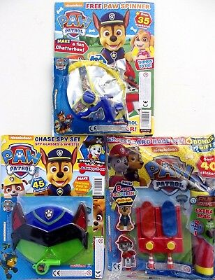 3 x PAW PATROL MAGAZINES ~ ALL NEW WITH FREE GIFTS ~
