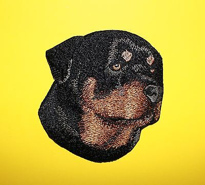 """Rottweiler Dog Head Embroidered Patch Approx Size 3.5""""x3.5"""""""