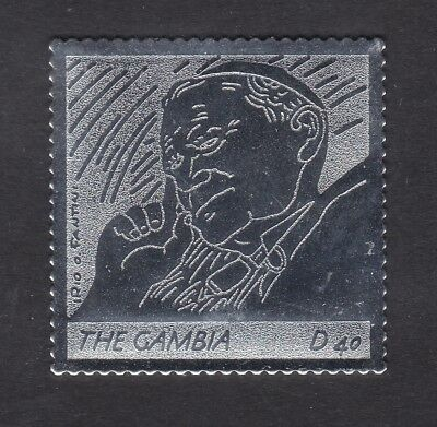 Gambia 2005 Death of Pope John Paul 40d - Silver Foil - MNH (B6B)