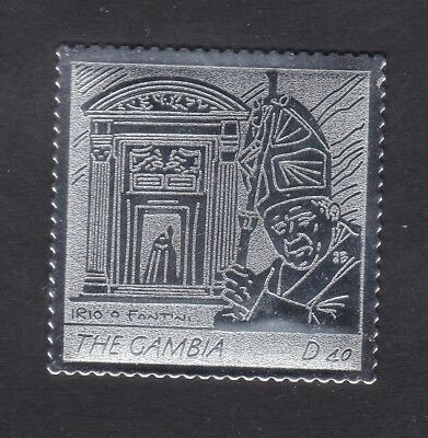 Gambia 2005 Death of Pope John Paul 40d - Silver Foil - MNH (A13F)