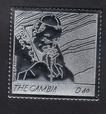 Gambia 2005 Death of Pope John Paul 40d - Silver Foil - MNH (A8C)