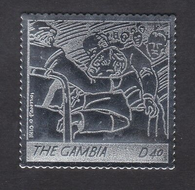 Gambia 2005 Death of Pope John Paul 40d - Silver Foil - MNH (B8H)