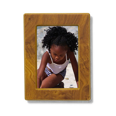 Photo Frame Wood Small Urns for Human Ashes - Medium Natural Brown