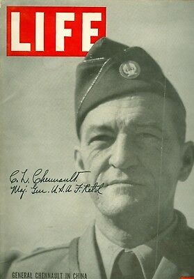 Flying Tiger's General Claire Chennault Signed 1942 Life Magazine