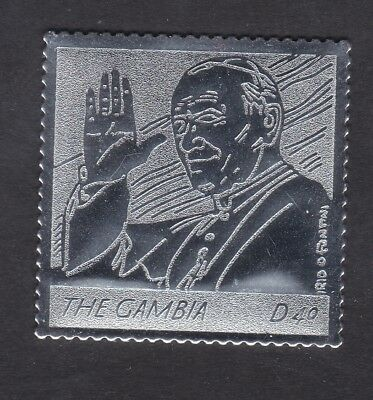 Gambia 2005 Death of Pope John Paul 40d - Silver Foil - MNH (B5C)