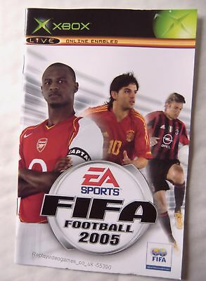 55390 Instruction Booklet - FIFA Football 2005 - Microsoft Xbox (2004)