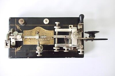Early Vibroplex Bug Morse Key - S/N 88436 Manufactured 1923 - VGC - Nice!!
