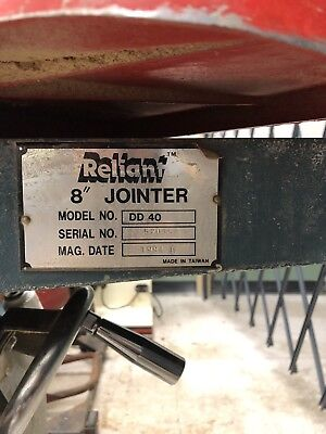 "Reliant 8"" wood jointer"