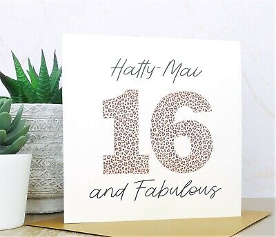 Personalised Handmade 40th,50th,60th,70th, Birthday Card, Niece, Sister, Friend