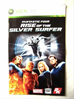 54654 Instruction Booklet - Rise Of The Silver Surfer - Microsoft Xbox 360 (2007