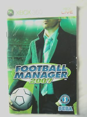 54655 Instruction Booklet - Football Manager 2007 - Microsoft Xbox 360 (2006)