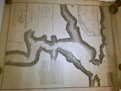 Admiralty Chart for Fowey, Cornwall 1811. Original Engraved Map. Rare