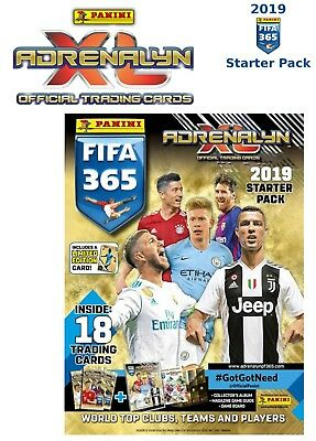 Fußball Limited Edition Trading Cards Panini Adrenalyn XL FIFA 365 2018 Multipack inkl Trading Cards