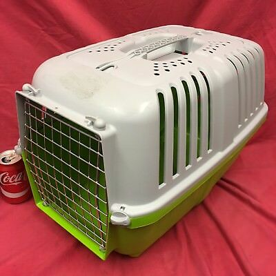 "LARGE Cat Kitten Plastic Carrier Box 21 x 13"" Home Vets Transport Carrying Vents"
