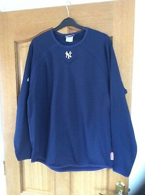 Majestic Large Navy  New York Yankees Therma Base  Baseball Top