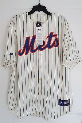 MAJESTIC NEW YORK METS MLB Official Baseball Jersey Shirt Authentic New Men's L