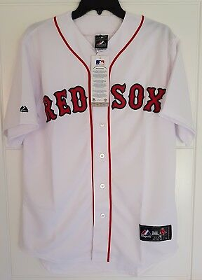 MAJESTIC BOSTON RED SOX Official MLB Baseball Jersey Shirt Authentic New Mens S