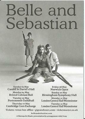 Belle and Sebastian      UK Concert Tour    2015      Promo Flyer / Handbill x 2