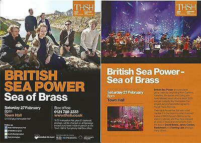 British Sea Power   'Brass' UK Concert Tour  Birmingham  2016   Promo Flyer  x 3