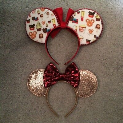 Mickey and Minnie mouse ears headbands