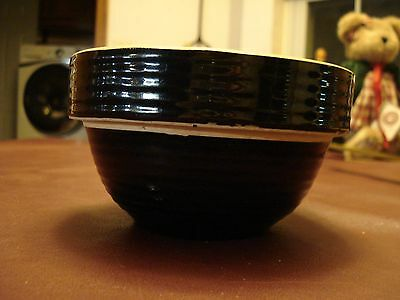 "Antique / Vintage Black Ceramic 5"" Bowl, USA Made"