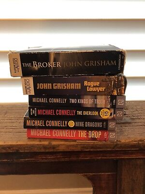 Lot of 6 Unabridged Audiobooks on CD Mystery, Thriller Grisham Connelly Lot
